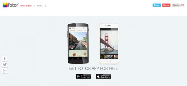 画像加工アプリ「FOTOR」