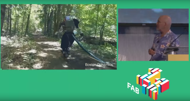 Above: A Boston Dynamics Robot walks in the woods. Image Credit: Screenshot/Michael Campbell/YouTube