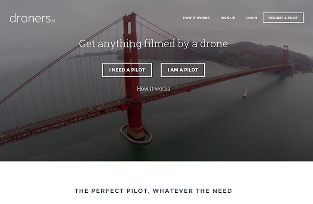Get anything filmed by a drone. | Droners.io
