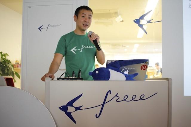 freee代表取締役の佐々木大輔氏 2015年4月21日撮影