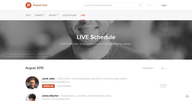 ProductHunt-live