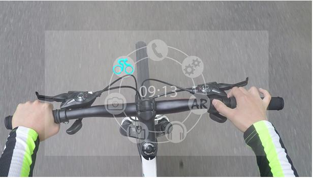 サイクリング用ARグラス「SENTH IN1」