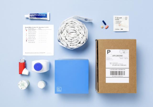 個別梱包した薬だけでなく、吸入器や塗り薬なども一緒に届けてくれる