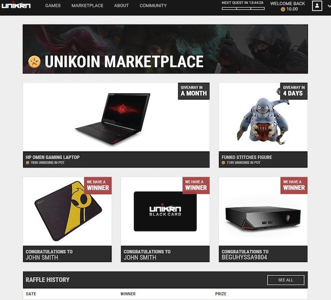 上: Unikrn Image Credit: Unikrn