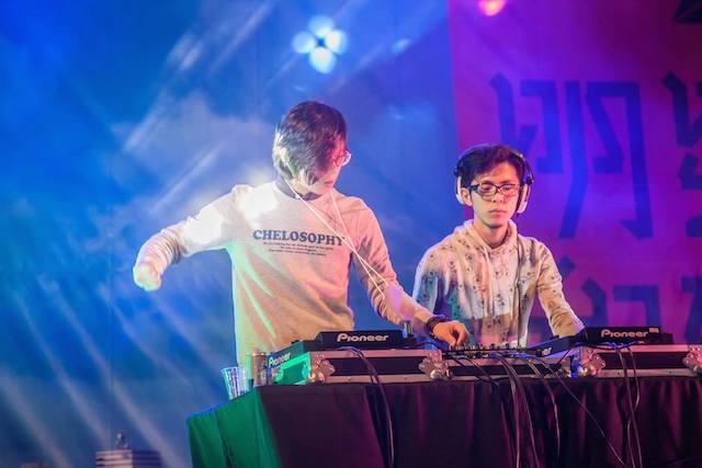 明星和楽2014(台北)では、福岡のDJと台湾のDJのコラボも。