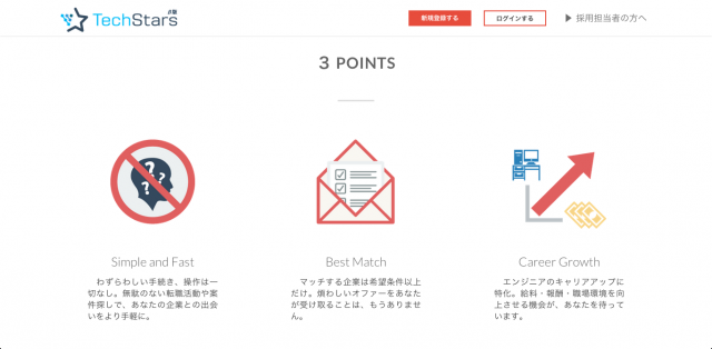TechStarsの3つのポイント