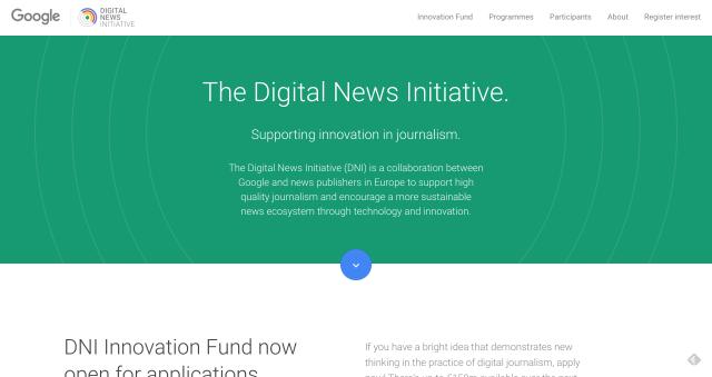 The Digital News Initiative – Google