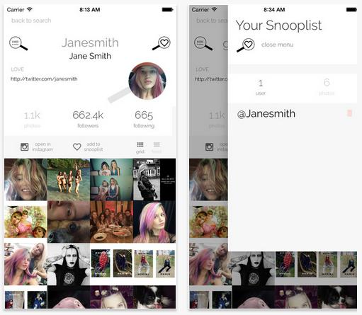 Instagramで意中の人をひっそり追いかけられる「InstaSnoop」