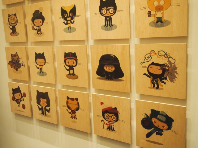GitHub-office-wall-of-Octocat