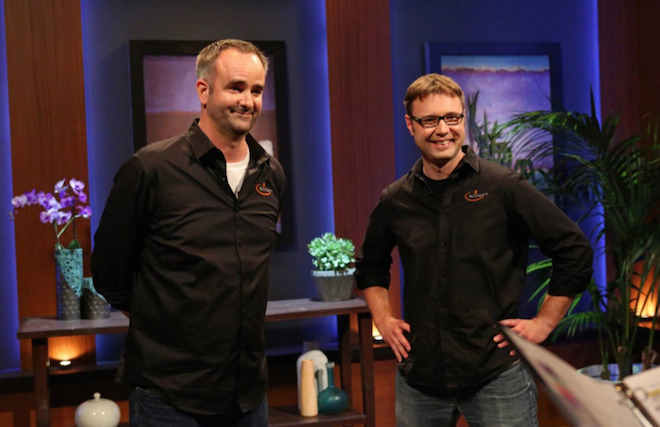 Above: Charles Manning and JD Claridge of xCraft on Shark Tank. Image Credit: ABC