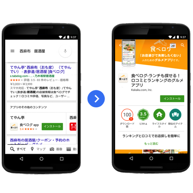 (引用: http://googledevjp.blogspot.jp/2015/04/app-indexing.html )