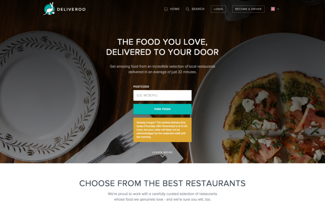 Deliveroo Premium Restaurant Takeaway Order Food Delivery Online
