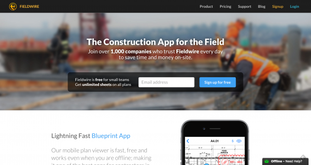Fieldwire 1 Construction App
