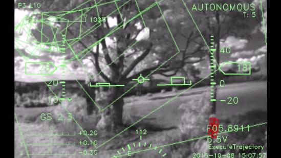 自動飛行ドローンの視界