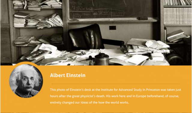 Albert-Einstein-desk