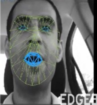 Above: Edge3 can track and map a driver's face. Image Credit: Edge3 Technologies