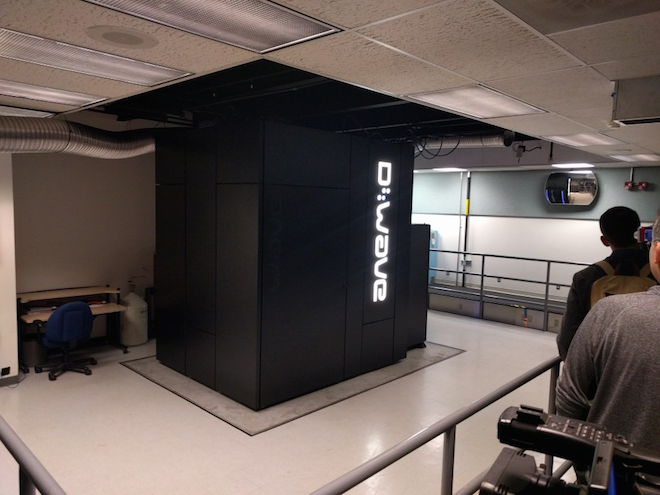 Above: The D-Wave 2X quantum computer at NASA Ames Research Lab in Mountain View, California, on December 8. Image Credit: Jordan Novet/VentureBeat