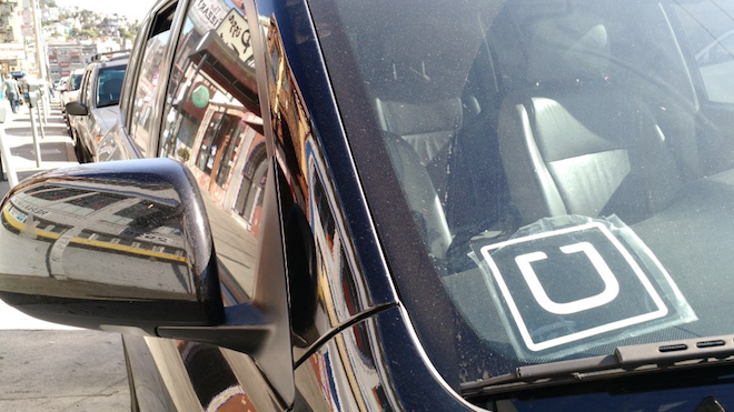 Above: An Uber car in San Francisco. Image Credit: Jordan Novet/VentureBeat