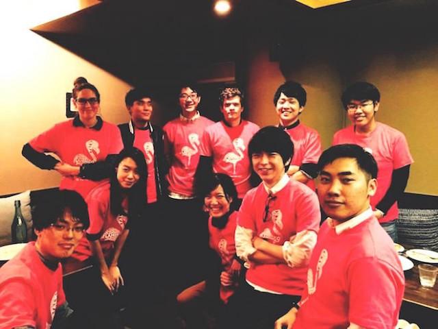 大学生、院生を中心としたフラミンゴのチーム