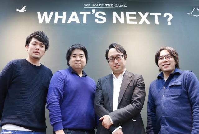 左から、COOの丸山氏、CEOの春日氏、執行役員で医師の伊藤氏、CTOの浦田氏