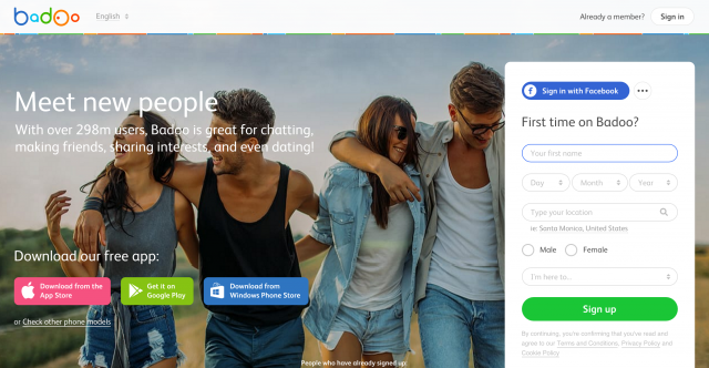 Badoo-website