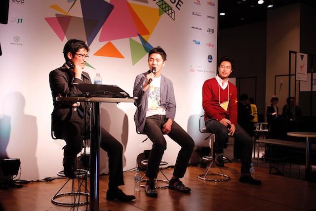 左から:東洋経済オンライン 編集長の山田 俊浩氏、フンザ代表取締役社長の笹森 良氏、ミクシィ代表取締役社長の森田 仁基氏
