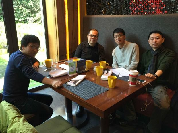(左から)KaiStart創業者のXu Jianjun氏、Matrix PartnersのマネージングパートナーXu Chuan-sheng氏、Kaistartの共同創業者Zuo Chi-kin氏、Matrix PartnersのパートナーCong Zhen氏。