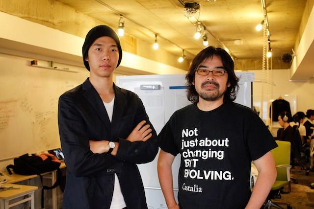 右:キャスタリア代表取締役山脇智志氏 左:同社プロダクトマネージャー 時田浩司氏