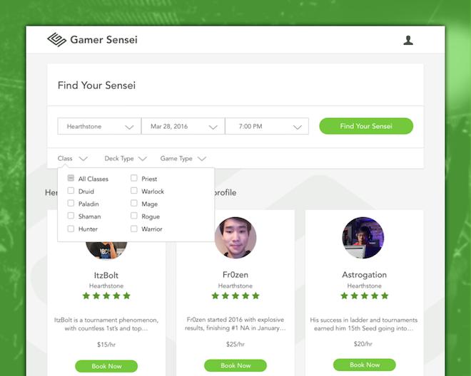 Above: Gamer Sensei wants to make you a more competitive gamer. Image Credit: Gamer Sensei