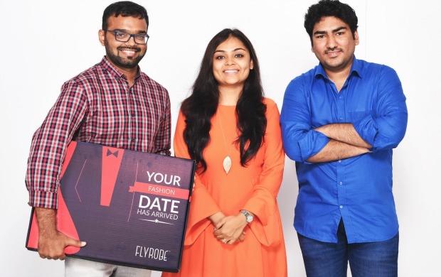 左から:Flyrobe COO Pranay Surana 氏、CEO Shreya Mishra 氏、CTO Tushar Saxena 氏