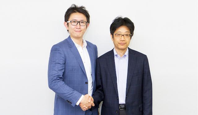 左:Finatext代表取締役林良太氏 右:ナウキャスト創業者、東京大学大学院経済学研究科教授 渡辺努氏