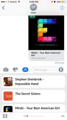 Above: Castro's iMessage app lets you share podcasts. Image Credit: Screenshot
