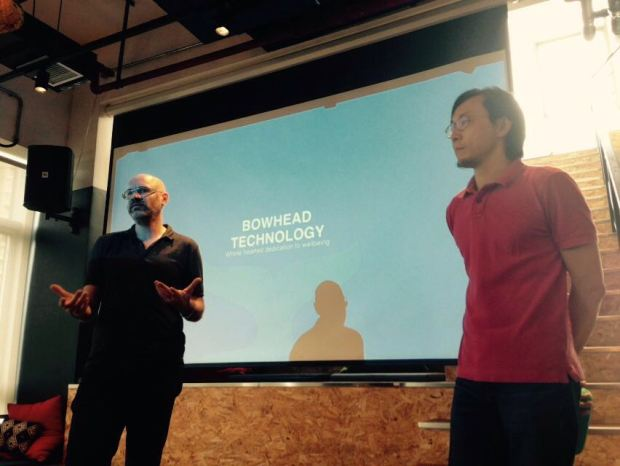 Founder and CEO of Bowhead Technology Inc, Alvin Chiang (left)