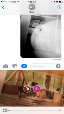Above: Triller's iMessage app. Image Credit: Screenshot