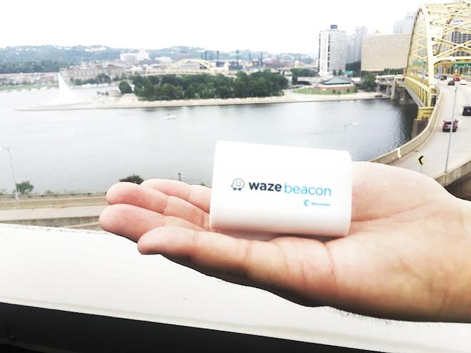 Above: Waze Beacon Image Credit: Waze