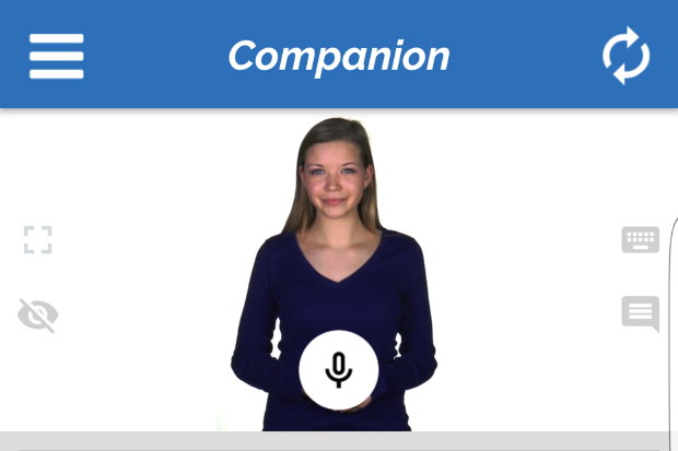 Personal assistant Abby lives in the Companion app by Identifor. Using artificial intelligence, Abby learns about its users on the Autism spectrum to support them throughout the day and help them find and keep jobs. Image Credit: Identifor