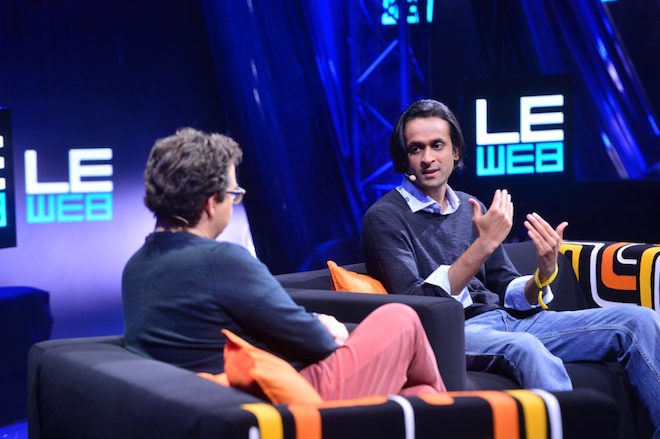 Above: Founder and CEO Naren Sham speaking at LeWeb in 2014. Image Credit: LeWeb