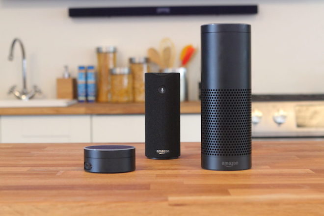 Above: A collection of Amazon devices powered by Alexa. From left to right: Echo Dot, Amazon Tap, and Amazon Echo. Image Credit: Ken Yeung/VentureBeat