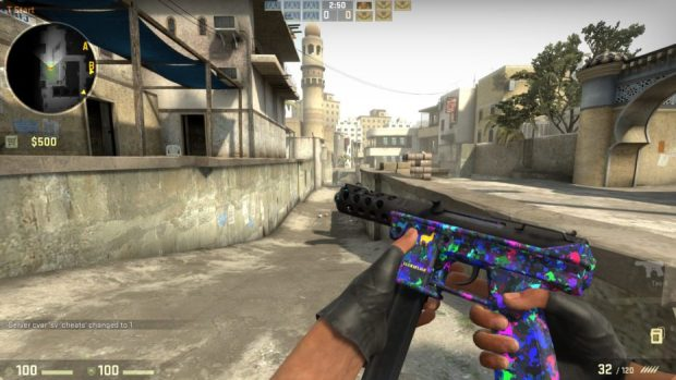 Above: Counter-Strike: Global Offensive weapon skins are often worth a lot of money. No, I don't know why either. Image Credit: Valve