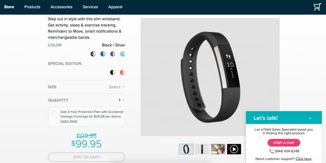 Fitbitの活動量計「Alta」