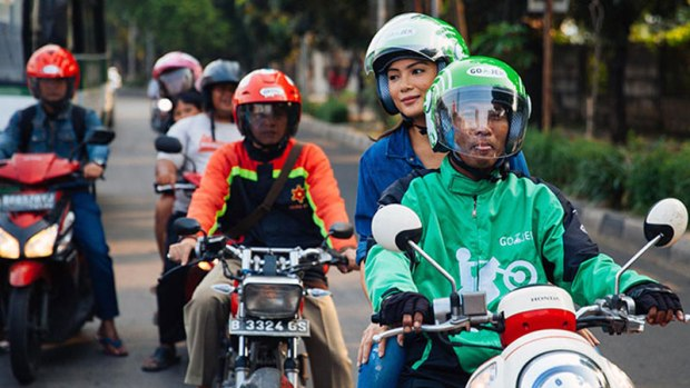 Indonesia's Go-Jek is best known for its motorbike-hailing service, which runs through an app. Photo credit: Go-Jek.