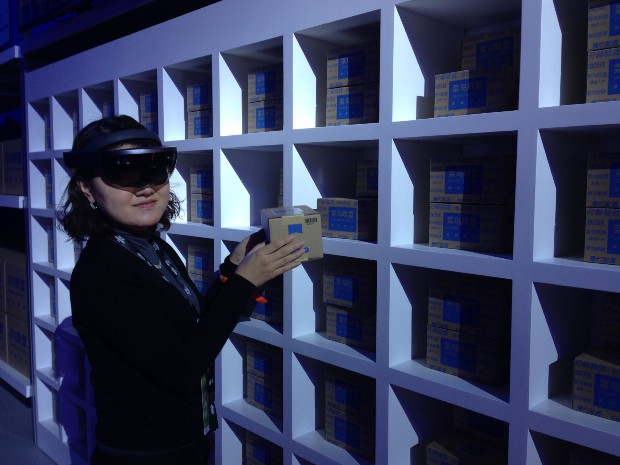 Cainiao introduced an AR sorting system with Microsoft Hololense.