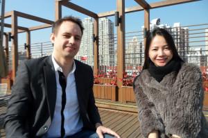 CEO of China Admissions, Richard Coward and co-founder, Qiong Wang