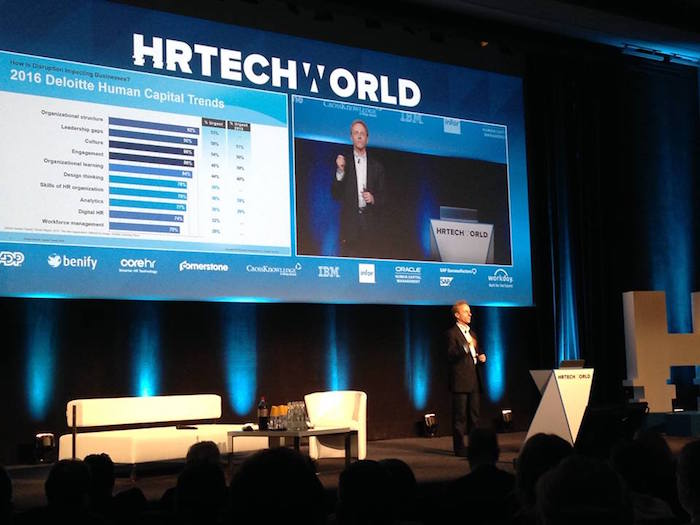 10月にパリで開催されたHR テックカンファレンス、HR Tech World Congressにて。