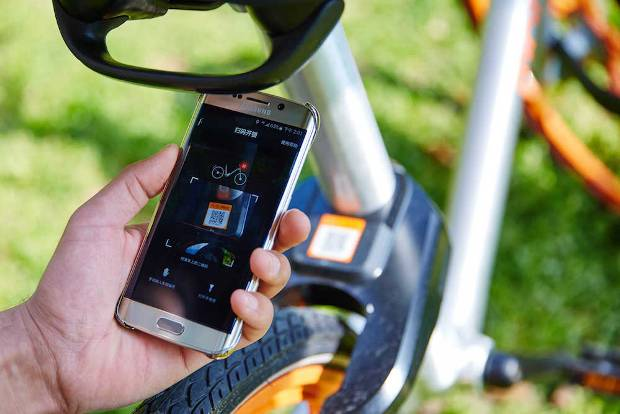 Mobike's bikes are equipped with smart lock (Source: Mobike)