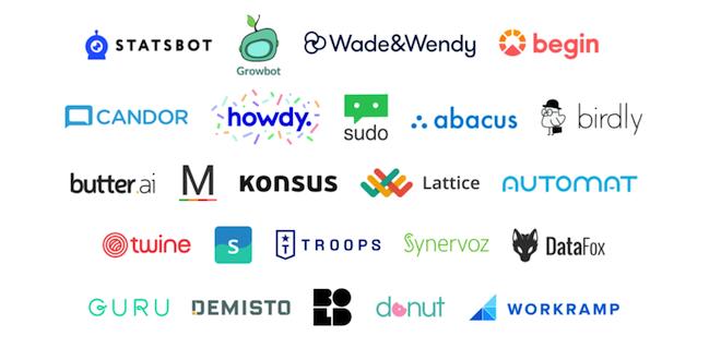Slack FundはIndex VenturesなどのパートナーVCとともにボットを開発する25の会社に投資をしてきた。