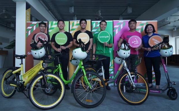 L-R-Representatives-from-GBikes-Anywheel-Obike-Grab-PopScooter-Sentosa-750x464