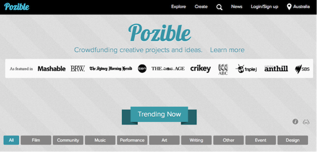 crowdsourcing Pozible