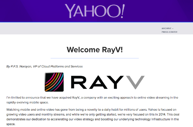 Welcome_RayV____Yahoo