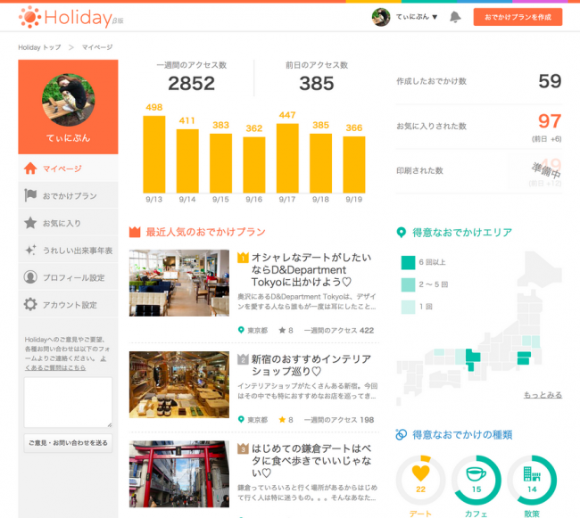 Holiday-user-dashboard